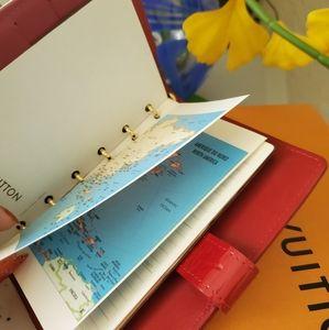 Louis Vuitton notebook red
